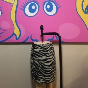 Ann Taylor Zebra Print Pencil Skirt